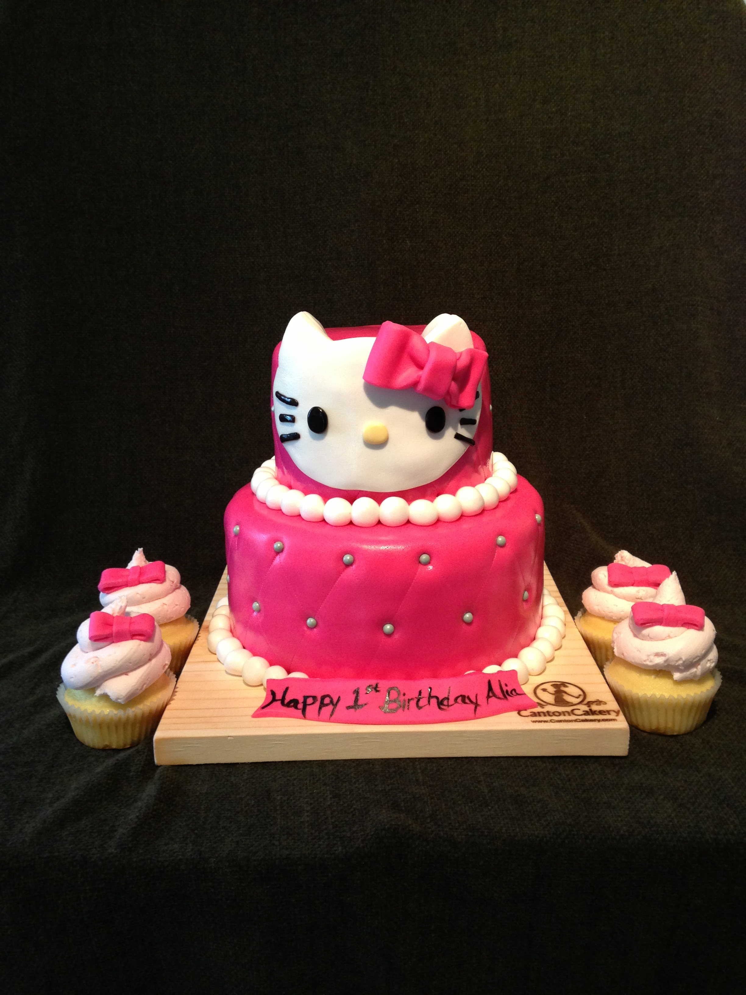 Hello Kitty Cake Design In Red Ribbon Dmost for